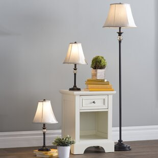 Gallipolis 3 Piece Table And Floor Lamp Set Amazing Pictures