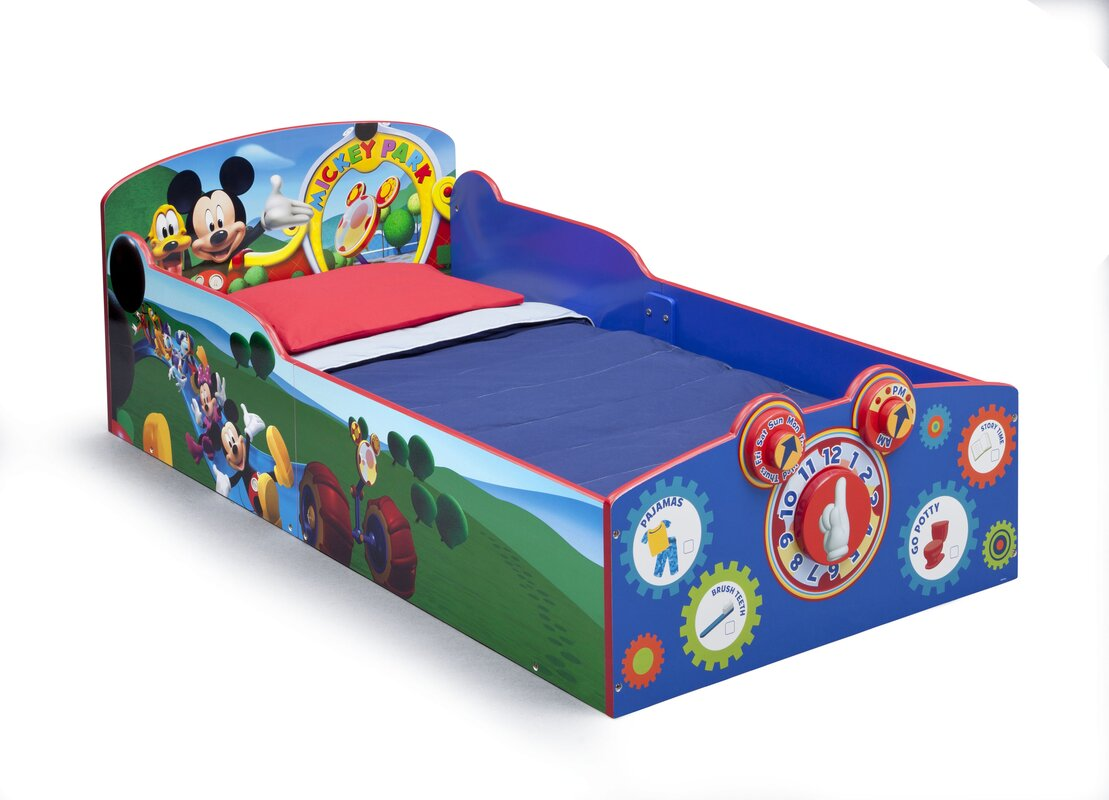 delta children mickey mouse toddler bed reviews wayfair. Black Bedroom Furniture Sets. Home Design Ideas