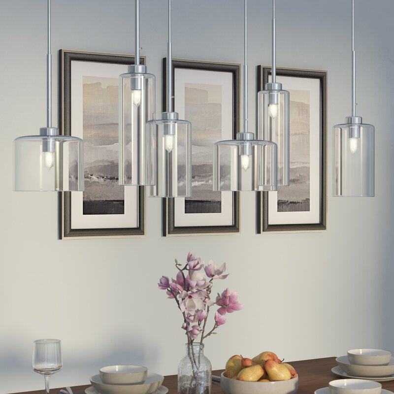 captivating kitchen island pendant lighting design | Wade Logan Siddharth 6-Light Kitchen Island Pendant ...