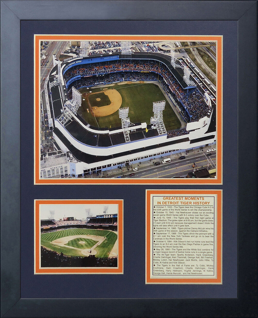 Legends Never Die Texas Rangers Ballpark at Arlington Framed Photo Collage 11 x 14-Inch