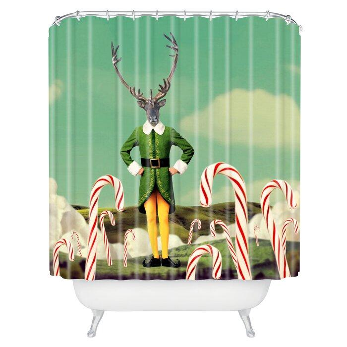 Natt Candy Landscape Shower Curtain