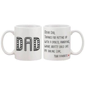 Dear Dad Coffee Mug