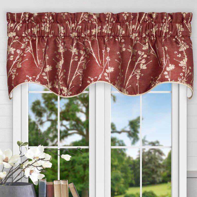 floral window valances maroon prairie floral 50 ellis curtain