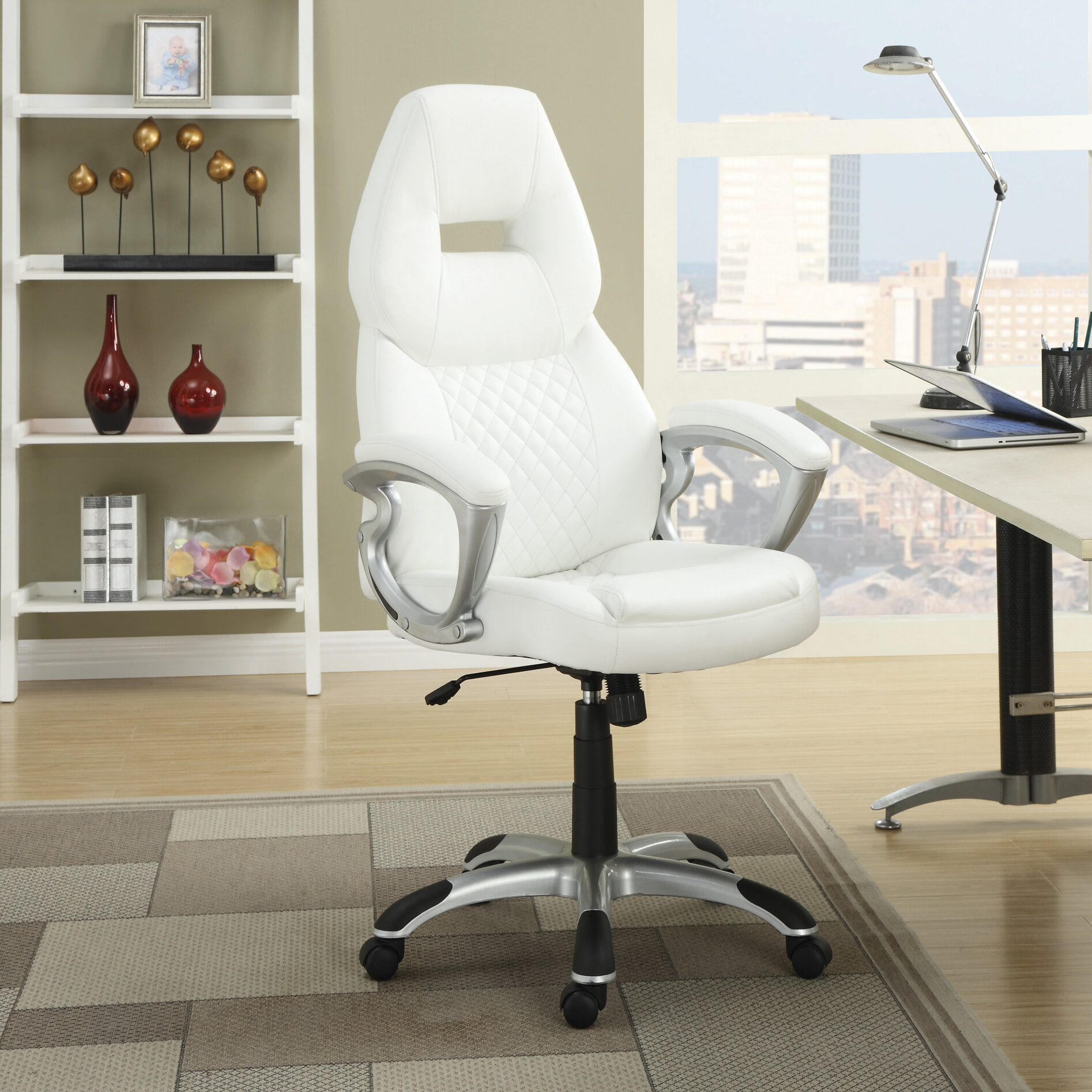 A Idiots Information To Adjustable Workplace Desk Defined Orren Ellis Markus Executive Chair u0026 Reviews | Wayfair