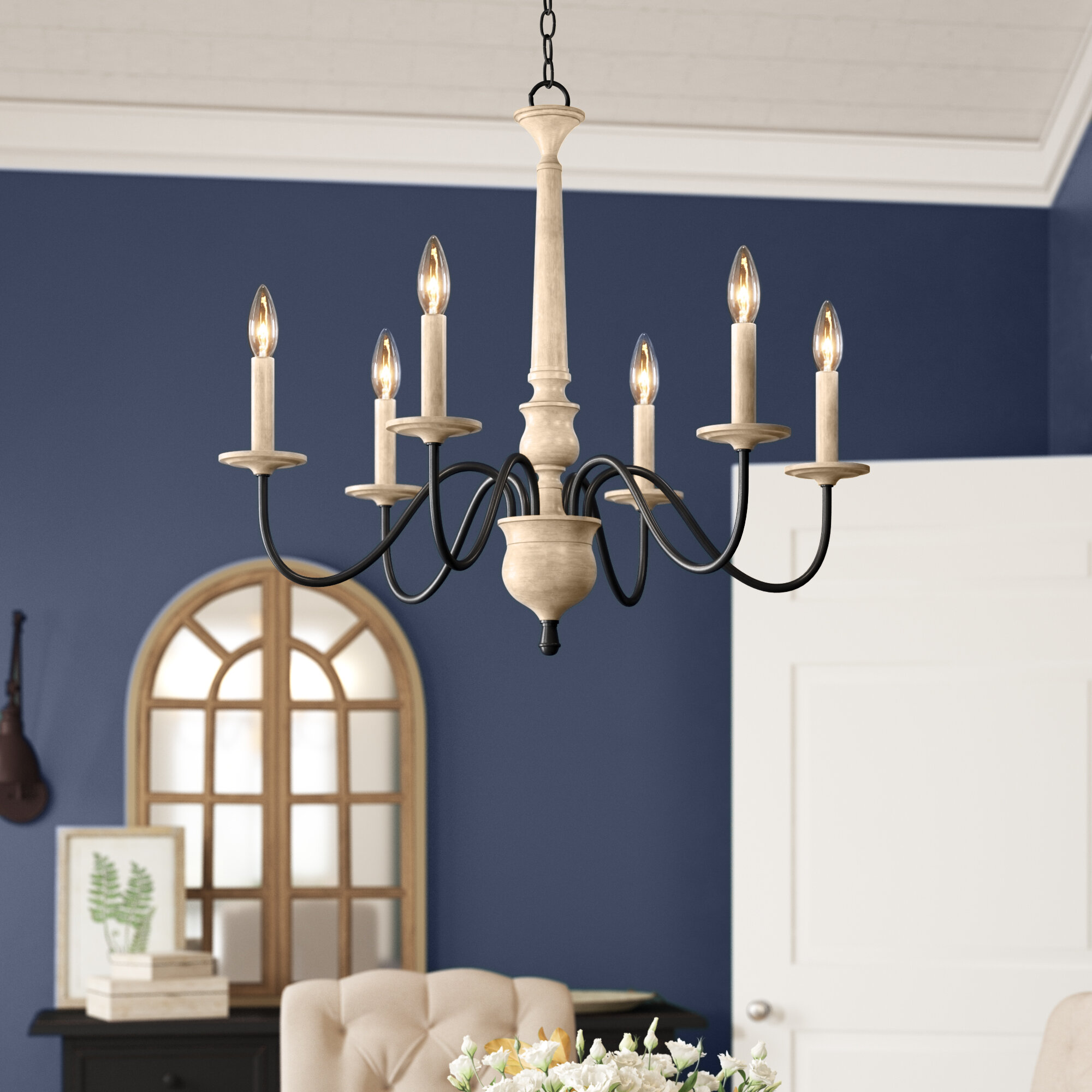 Birch lane helen 6 light chandelier reviews wayfair ca