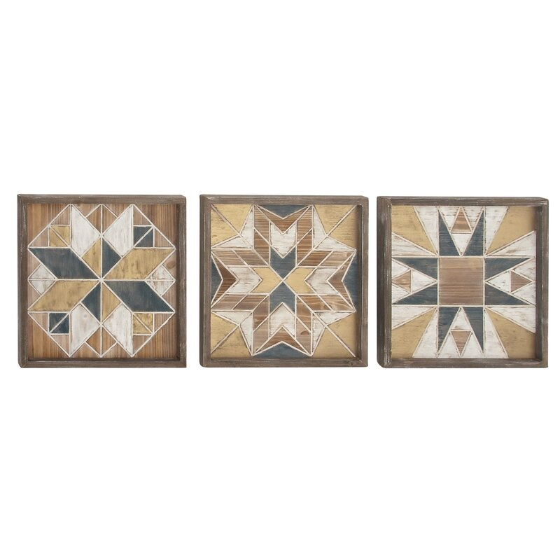3 Piece Wood Wall Decor Set Amp Reviews Allmodern