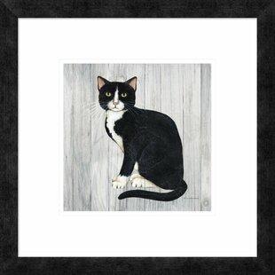 U0027Country Kitty I On Woodu0027 Print