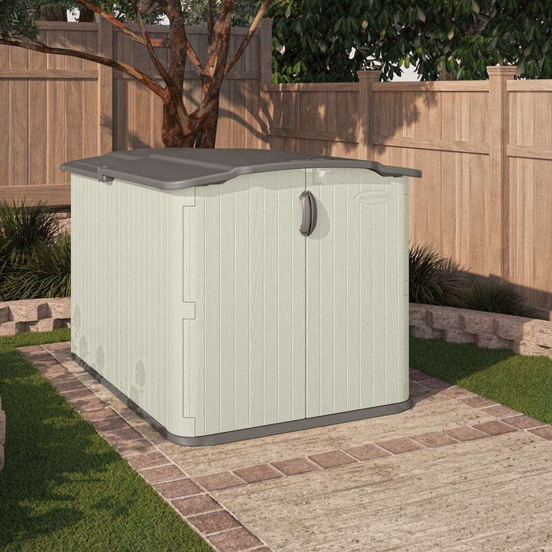 garden sheds menards suncast 4 ft 10 in w x 6 ft 8 in