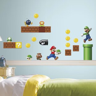 Nintendo 45 Piece Super Mario Wall Decal. By Room Mates