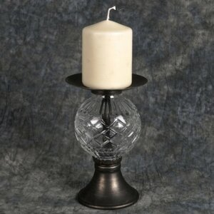 Metal/Glass Candlestick