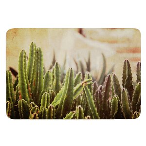 Grass Cactus by Jillian Audrey Bath Mat