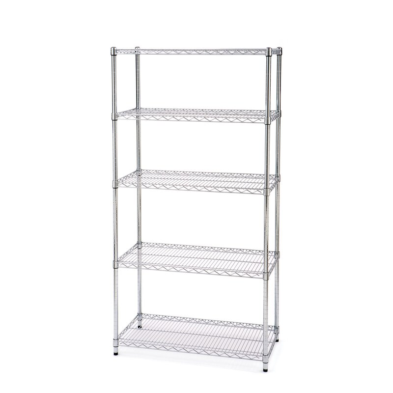 Seville Classics UltraZinc NSF 5-Tier Steel Wire Shelving with ...