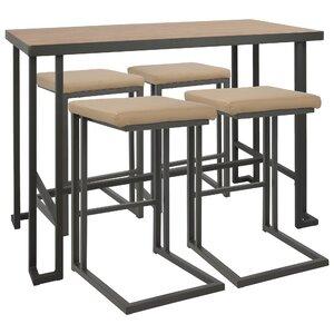 Helmville Industrial Counter Height Dining Set (Set Of 5)