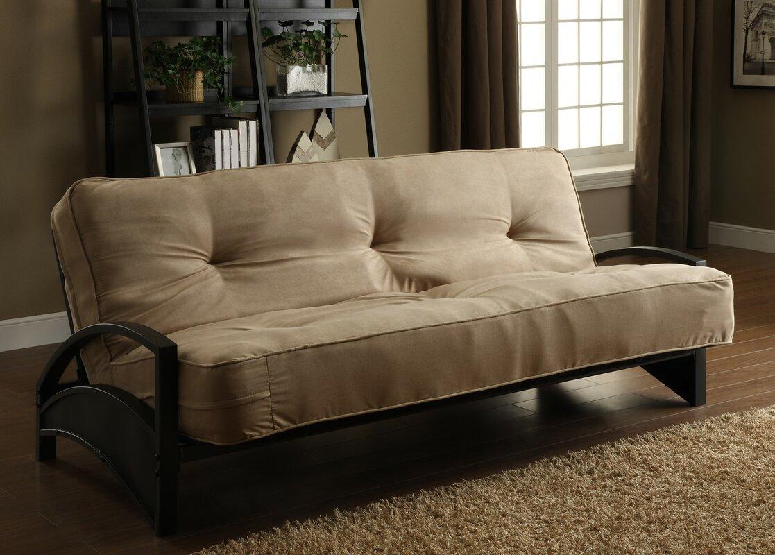 living room futon. Metal Futon Frame Three Posts  Reviews Wayfair