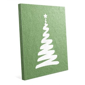 'Christmas Twirl in Green' Graphic Art on Wrapped Canvas