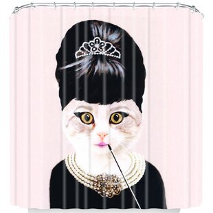 Coco De Paris Hepburn Cat Shower Curtain