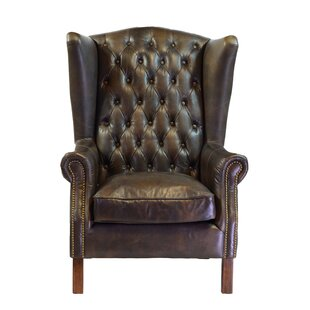 Moscow Leather Wingback Chair  sc 1 st  Wayfair & Wingback Leather Chairs Youu0027ll Love | Wayfair