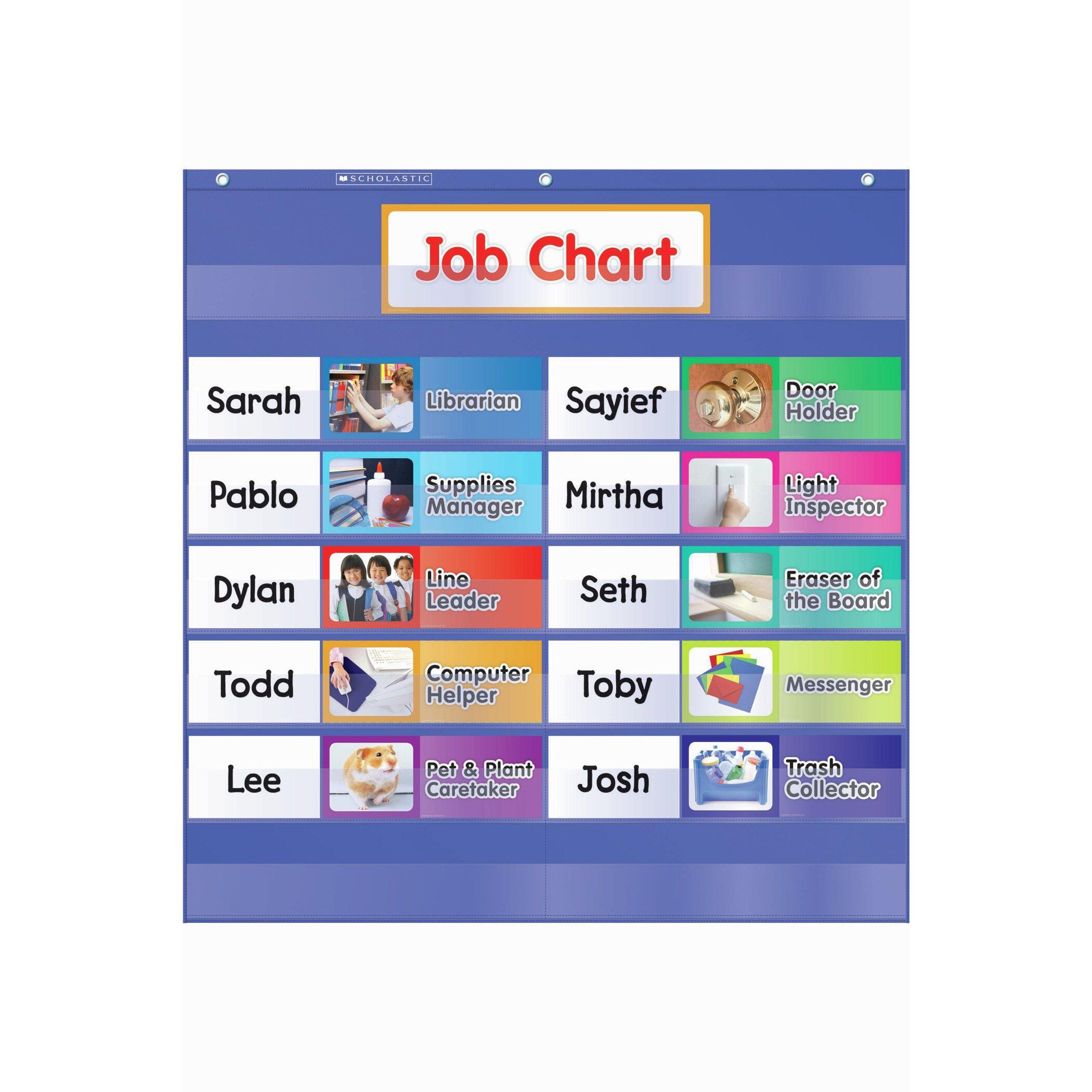 Teachers Friend Class Jobs Pocket Grade K-5 Chart   Wayfair