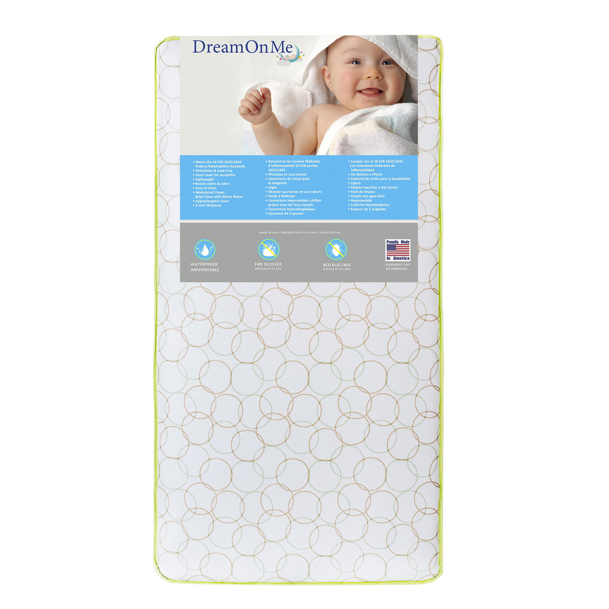 bed white modena raw in toddler davinci mattress