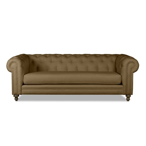 South Cone Home Hanover Tufted Linen Chesterfield Sofa | Wayfair