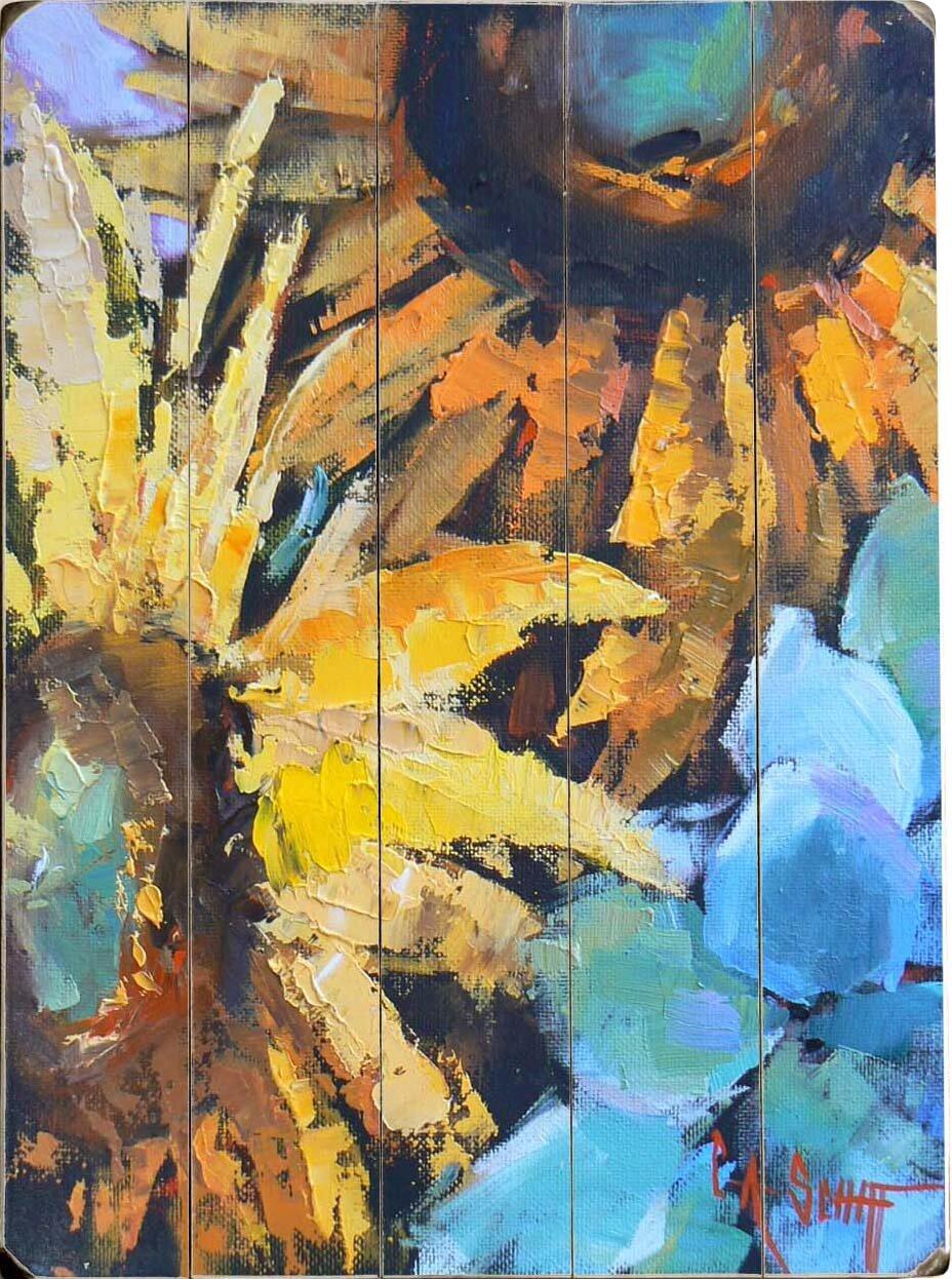 Red Barrel Studio Painted Sunflowers Wall Art & Reviews | Wayfair