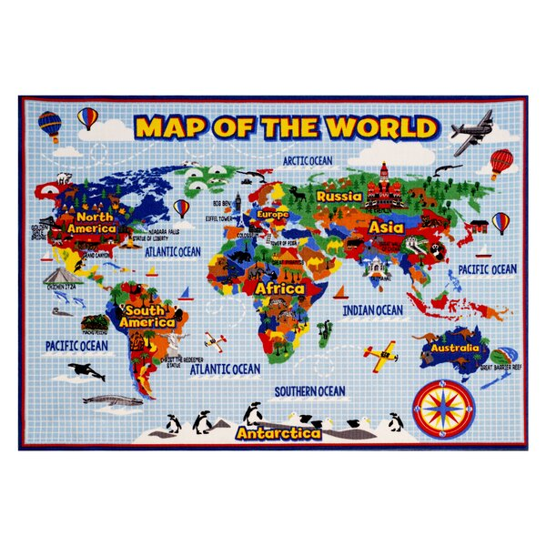 Smithsonian Rugs World Map Area Rug & Reviews | Wayfair