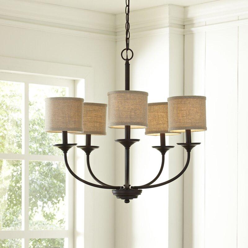 Kipling 5 light shaded chandelier
