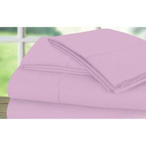Dream Castle 600 Thread Count 100% Cotton Sateen Marrow Hem 6 Piece Sheet Set