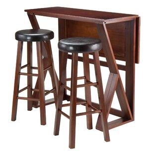 Drop Leaf Pub Tables & Bistro Sets You'll | Wayfair Ara Design Ideas Small Kitchen Bar Html on
