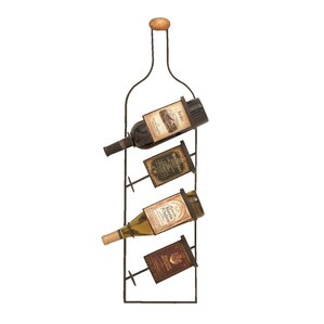 4 Bottle Wall Mounted Wine Rack by Cole & Grey