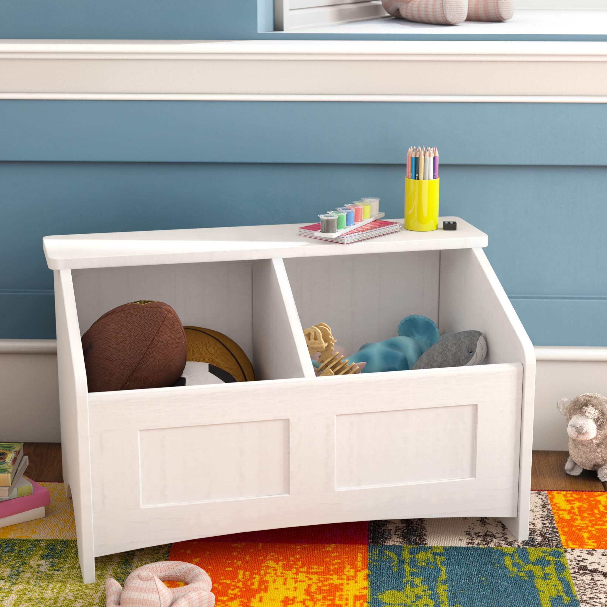 Viv + Rae Christiana Toy Box with Section Divider & Reviews | Wayfair