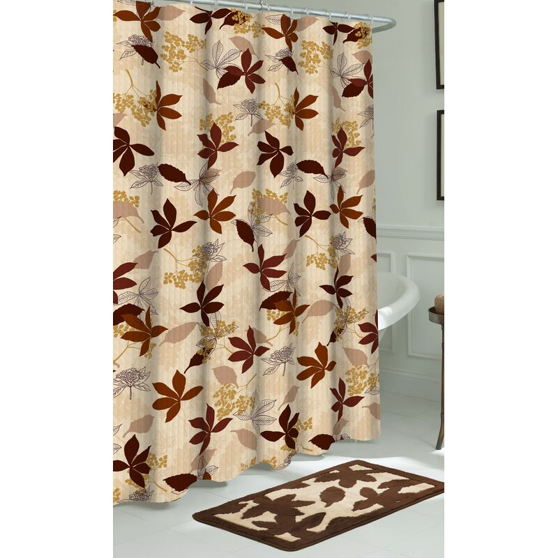 Blowing Leaves Shower Curtain Set Out Of Stock
