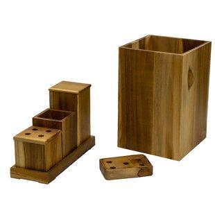 Gentil Teak Wood Bathroom Accessories | Wayfair