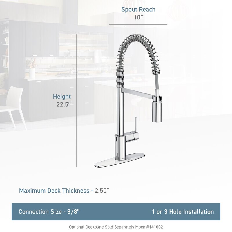 Align Pull Down Touchless Single Handle Kitchen Faucet With MotionSense,  PowerClean, And Duralock