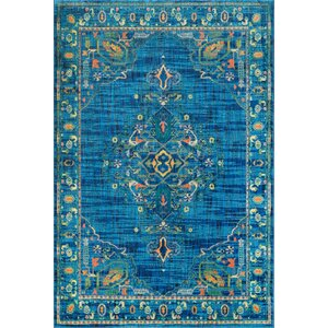 Curameng Blue Area Rug