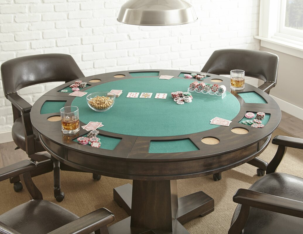 52 Malcolm Dining Game Poker Table Set