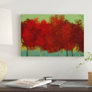 red wall art you ll love wayfair