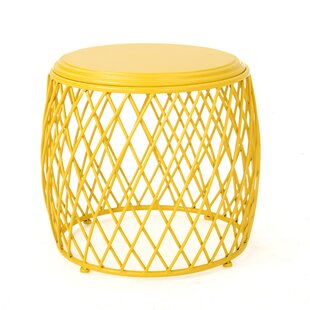 Small Round Metal Accent Table | Wayfair