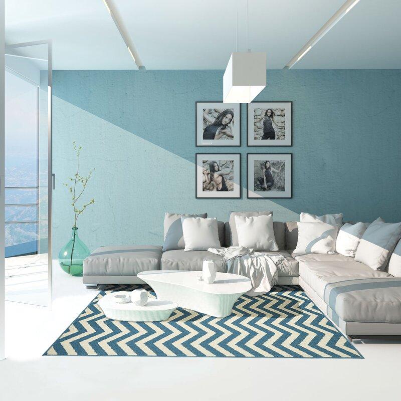 Coastal Living Light/Beige Blue Indoor/Outdoor Area Rug