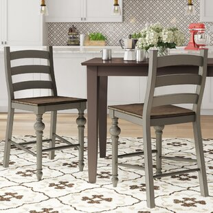 Sandbach Traditional Ladder Solid Wood Dining Chair (Set of 2)