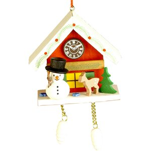 Snowman on Cuckoo Clock Ornament