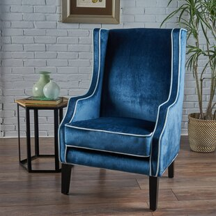 Blue Wingback Accent Chairs Youll Love Wayfair