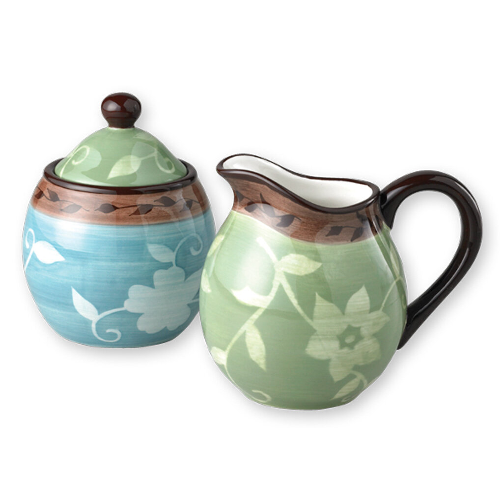 Pfaltzgraff Patio Garden Sugar and Creamer Set | Wayfair