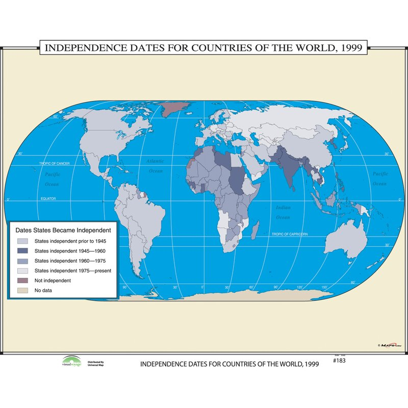 Universal map world history wall maps independence dates for world history wall maps independence dates for countries of the world gumiabroncs Image collections