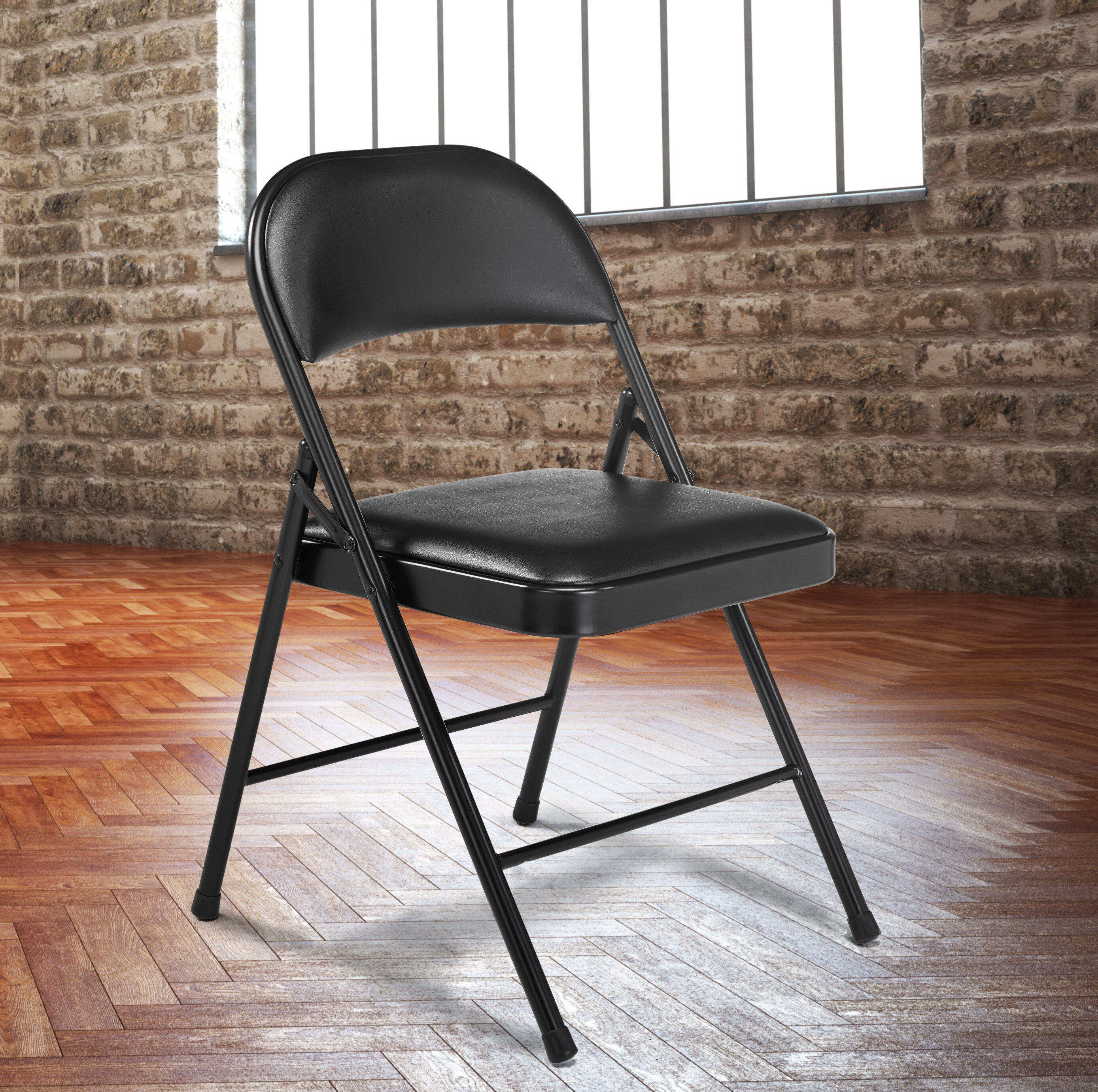 National Public Seating Commercialine Vinyl Padded Folding Chair U0026 Reviews  | Wayfair