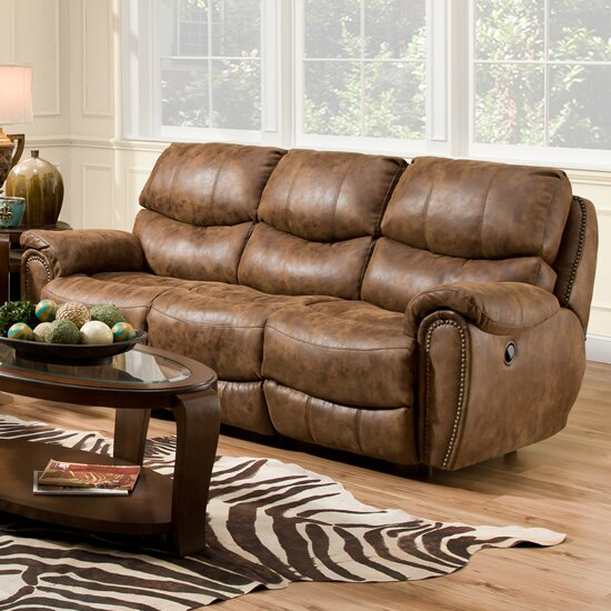 Red Barrel Studio Carolina Power Motion Reclining Sofa | Wayfair