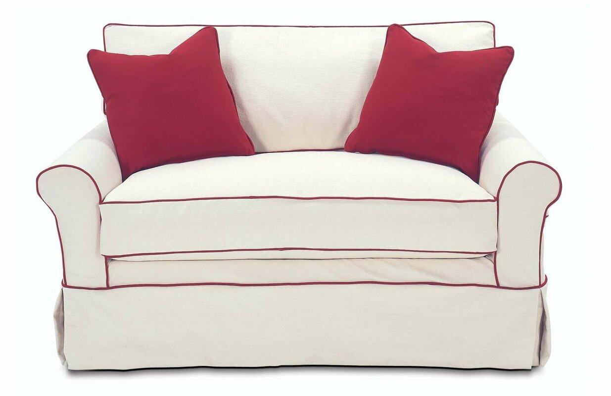 Nantucket 2 seat slipcover queen sleeper sofa rowe furniture rowe - Default_name