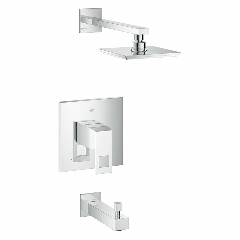 Grohe Eurocube Volume Control Tub and Shower Faucet & Reviews | Wayfair