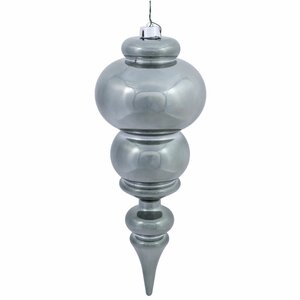 Christmas Finial Ornament with Drilled Cap