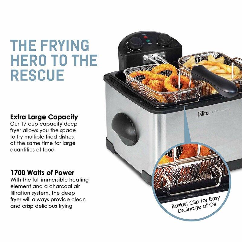 Appliances Deep Fryer Double Top Quality Electric Maxi Matic